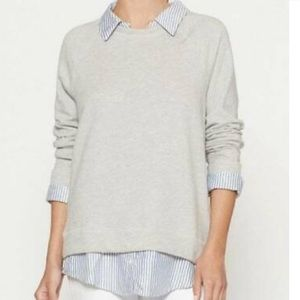 Joie soft sweatshirt with collar and shirt hem